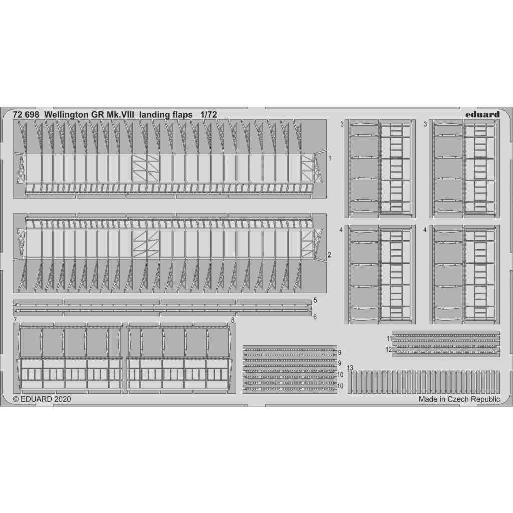 【新製品】72698 ヴィッカース ウェリントン GR Mk.VIII ランディングフラップ (エアフィックス用)