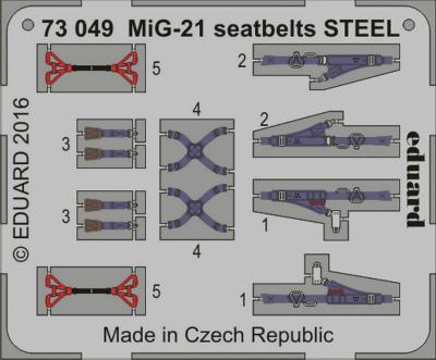 【新製品】73049)塗装済 MiG-21 フィッシュベッド シートベルト