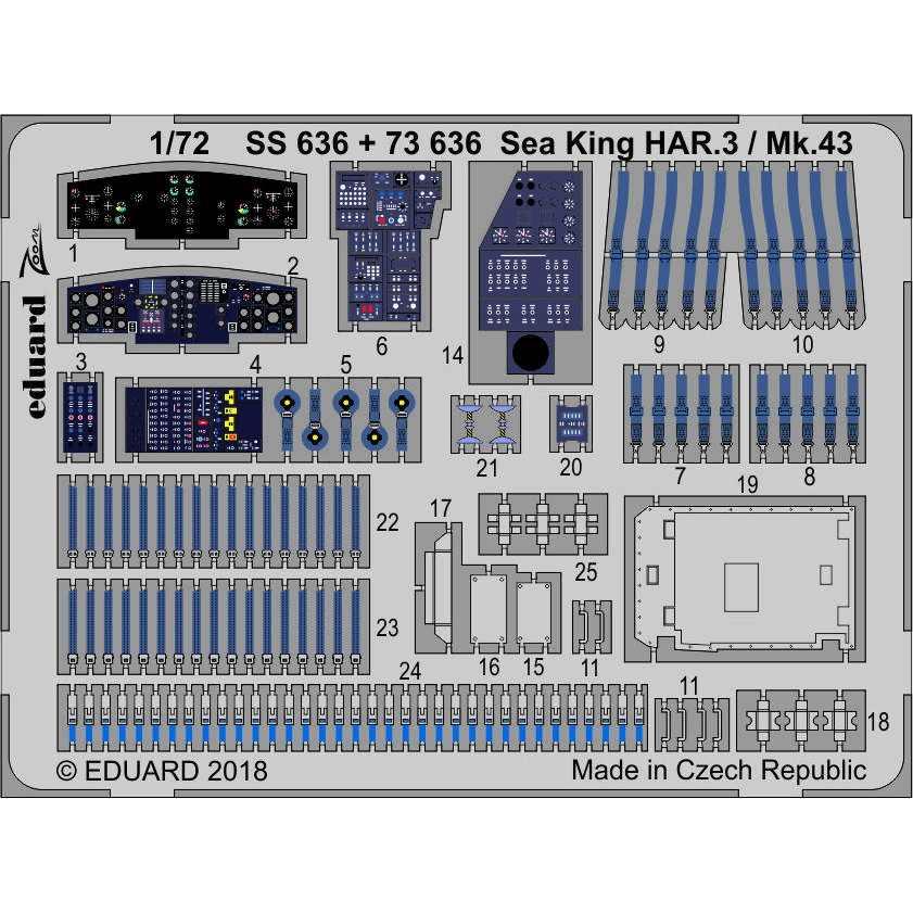【新製品】73636 塗装済 ウエストランド シーキング HAR3/Mk43 内装