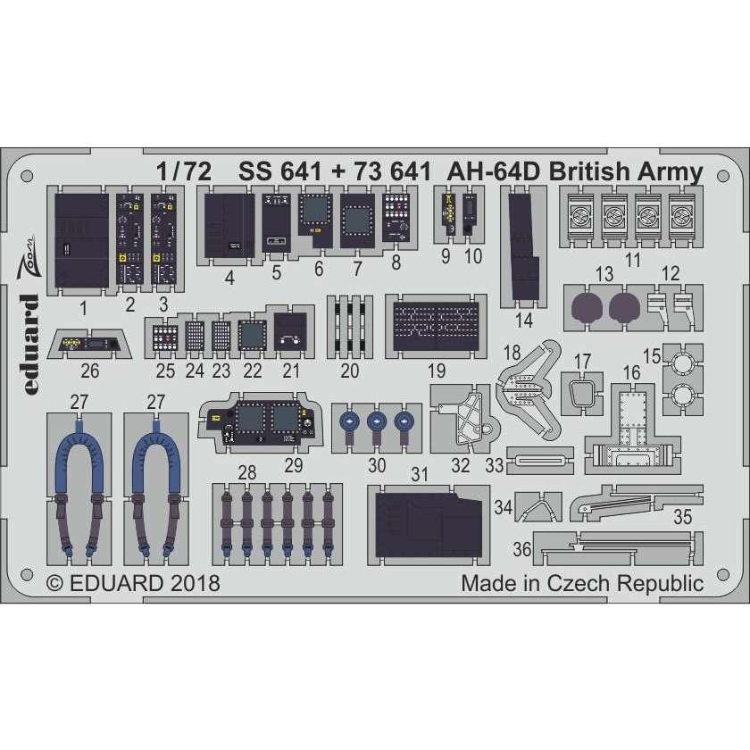 【新製品】73641 塗装済 AH-64D アパッチ 英陸軍仕様