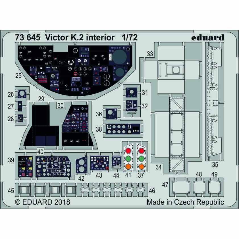 【新製品】73645 塗装済 ハンドレページ ヴィクターK.2 内装