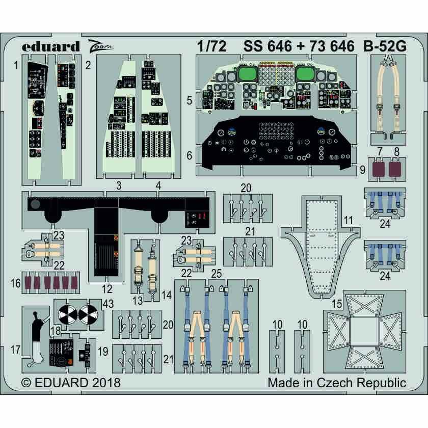 【新製品】73646 塗装済 B-52G 内装