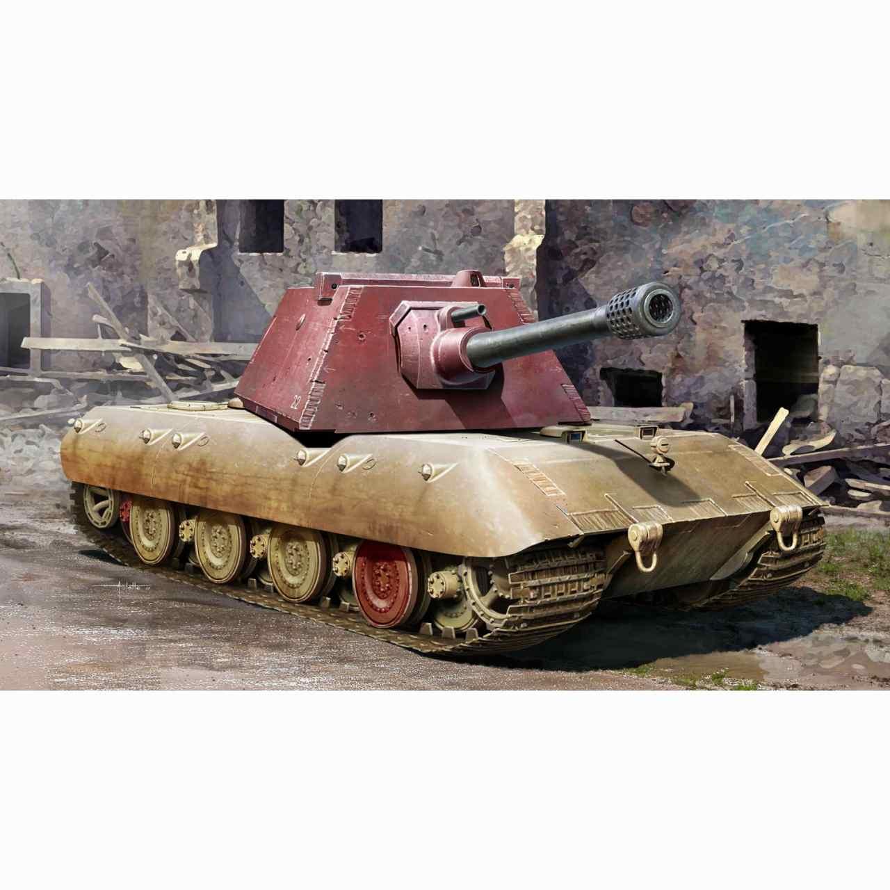 【新製品】09543 E-100 超重戦車 クルップ砲塔