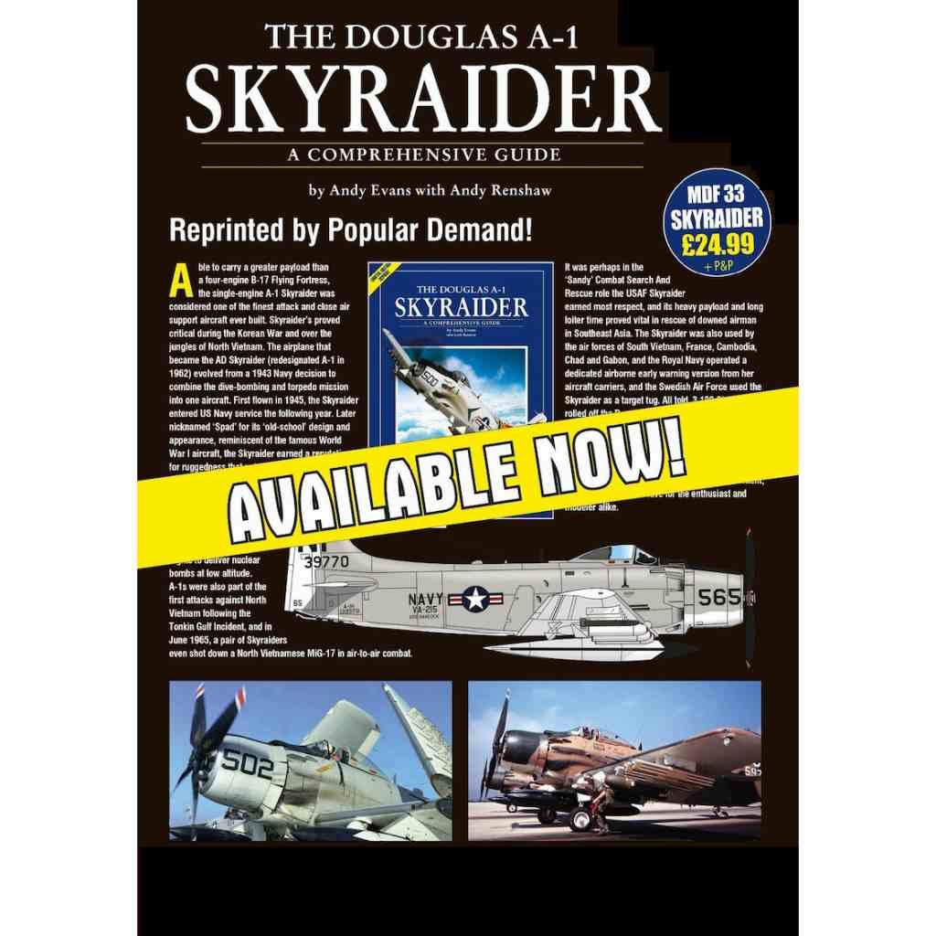 【新製品】Modellers Datafile 33 ダグラス A-1 スカイレーダー