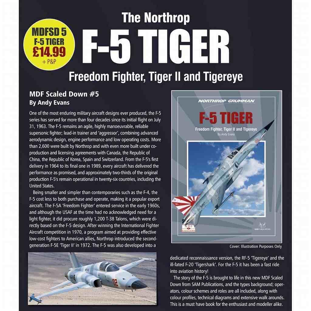 【再入荷】MDF スケールドダウン 5 ノースロップ・グラマン F-5 タイガー